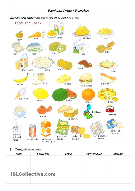 Food & Drink Ingilizce