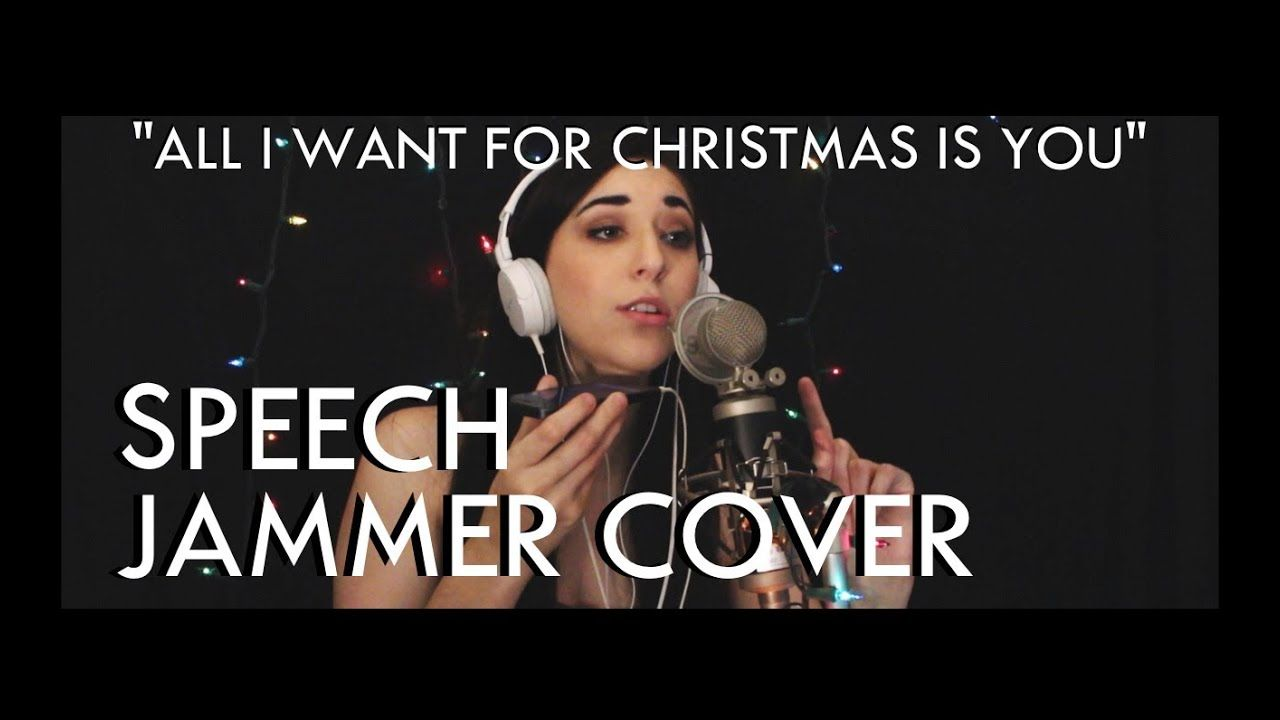 All I Want For Christmas Is You Mariah Carey Speech Jammer Cover Mariah Carey Songs Mariah