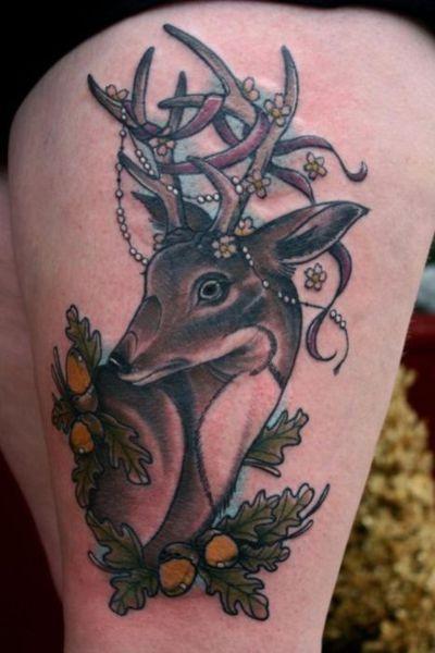 Deer tattoo.