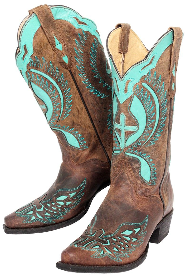 Womens JBW2220 Mad Dog Rust Cross with Turquoise Boots  adceca826e