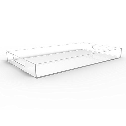 Large Decorative Serving Trays Simple Clear Serving Tray Spill Proof 20 Large Premium Acrylic Tray For 2018