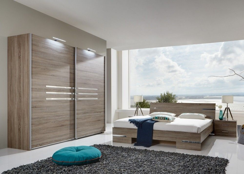 Schlafzimmer komplett Anna Montana Eiche 10272 Buy now at   - schlafzimmer braun weiß