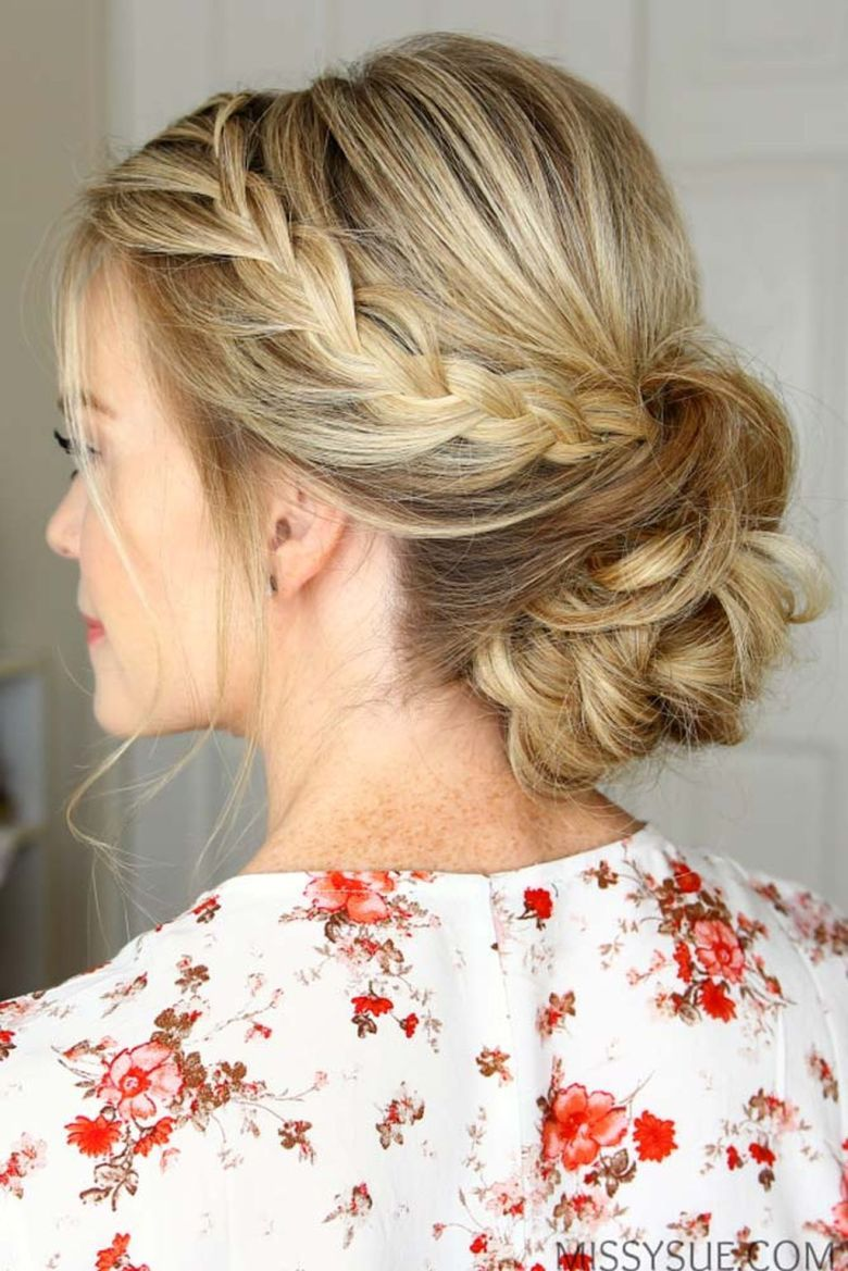 trendy chic updos ideas for medium length hair hair trends