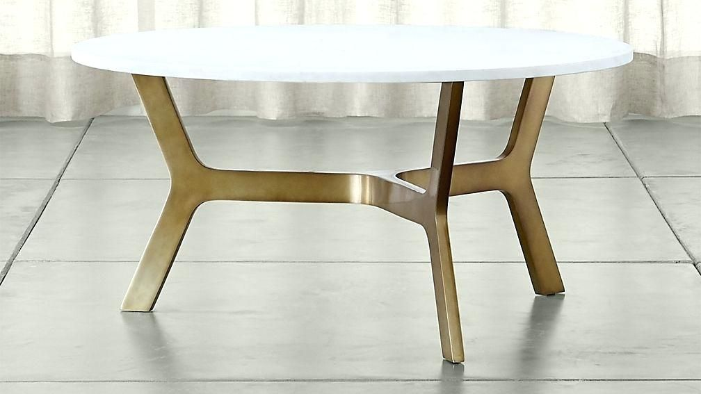 Round Coffee Tables Melbourne Marble Table With Br Base Crate And Barrel For