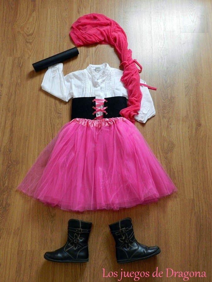 Los Juegos De Dragona Disfraz Sencillo De Pirata Para Niña Traje De Pirata Para Niña Disfraz Pirata Niño Disfraz De Pirata