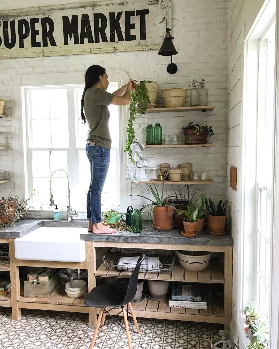 on an open kitchen shelf joanna gaines kitchen farmhouse kitchen decor kitchen decor on farmhouse kitchen joanna gaines design id=57649