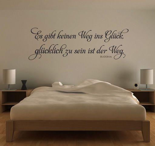 Schlafzimmer Wohnzimmer Küche Wandtattoo Spruch Denke nicht so oft an das.