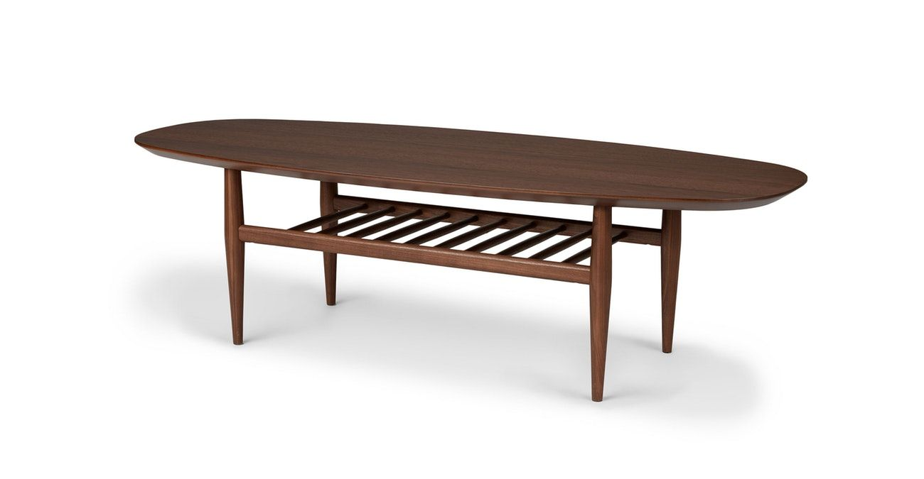 Lenia Walnut Oval Coffee Table In 2020 Oval Coffee Tables Mid Century Modern Coffee Table Coffee Table [ 675 x 1300 Pixel ]