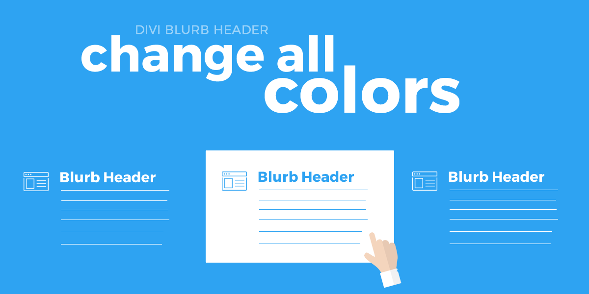 Change All Colors When Hovering Over The Divi Blurb All The Colors Color Change