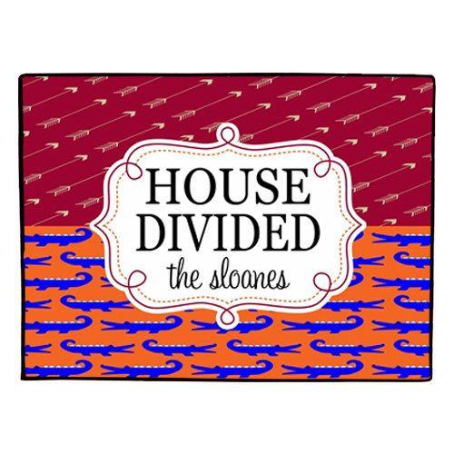 Florida State Seminoles Football Floor Mat: House Divided Doormat Personalized Door Mat By Collegiate