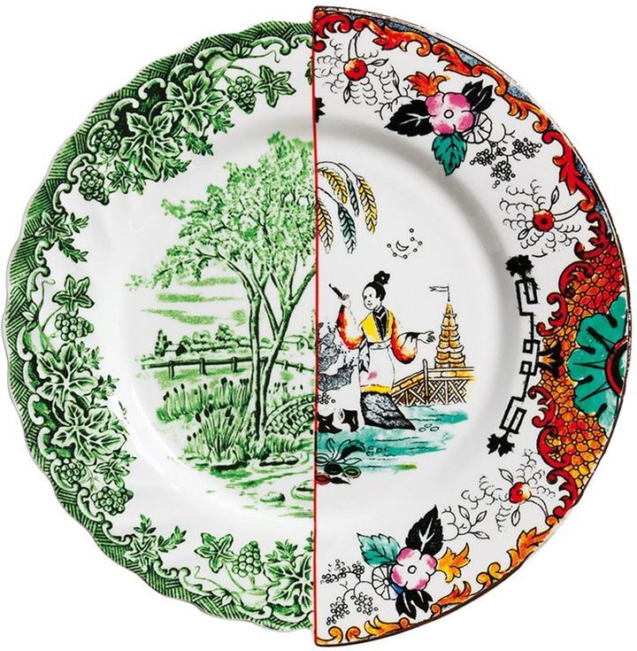 Seletti Hybrid Ipazia Bone China Dinner Plate