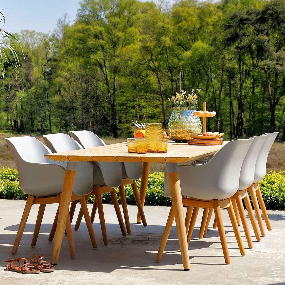 Hartman Sophie Studio Gartenmobelset 7tlg Tisch 240x100cm Gartenmobel Teak Gartenmobel Set Alu