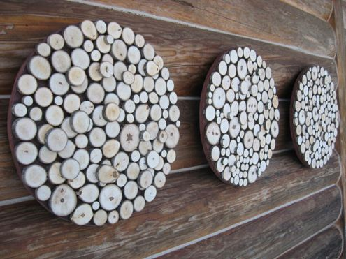 Diy Idea Wood Slice Wall Art Wood Slices Wood Slice Crafts Diy Wall Art