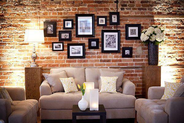 Decoraci n de paredes con ladrillos cara vista interior - Ladrillos decorativos para interiores ...
