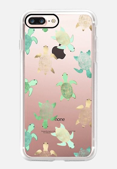 Turtles on Clear iPhone 7 Plus Case by Tangerine- Tane | Casetify