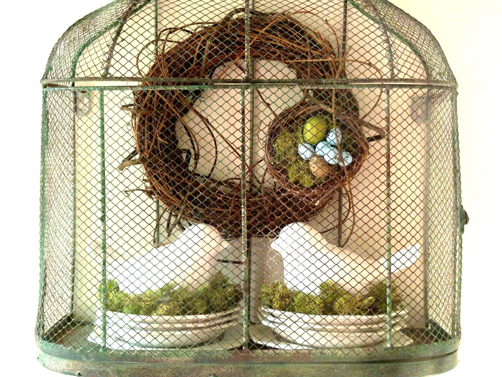 Wire birds house for decorating