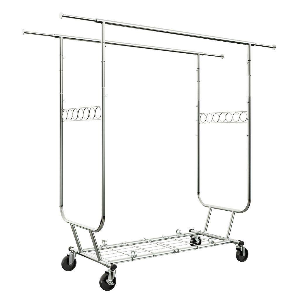 Double rail clothing garment rack products i love pinterest