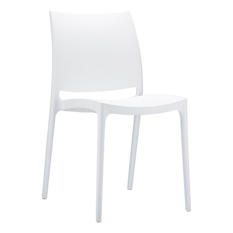 Chaise En Plastique Polypropylene Maya Chaise Plastique Chaise Chaise Design