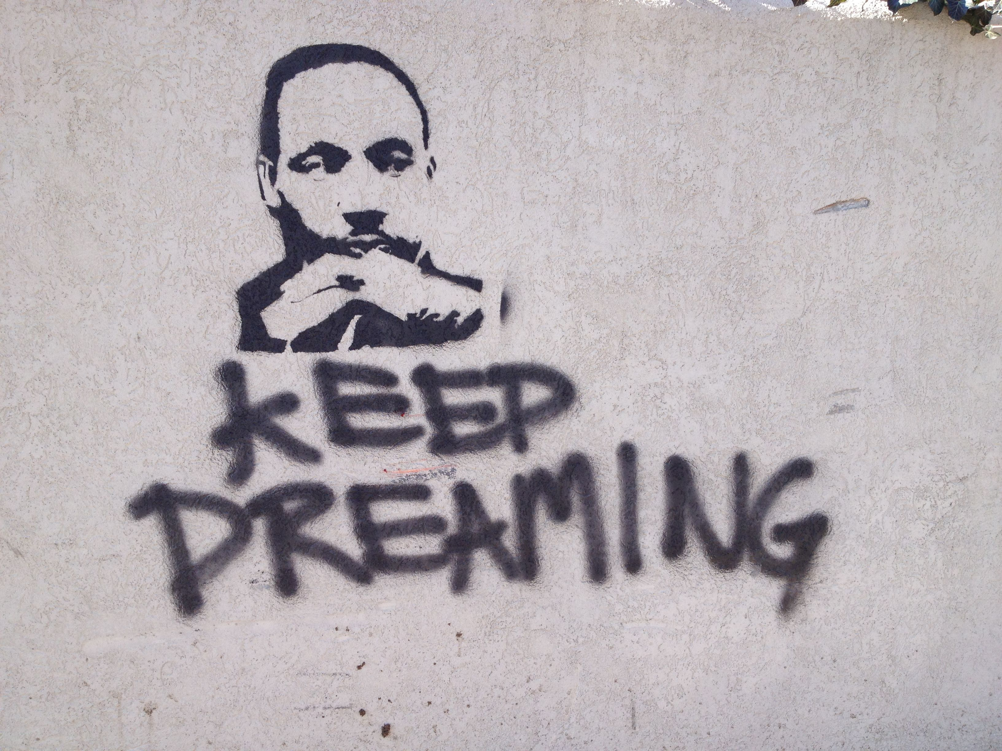 Graffiti spotted in an alley on martin luther king jrs birthday