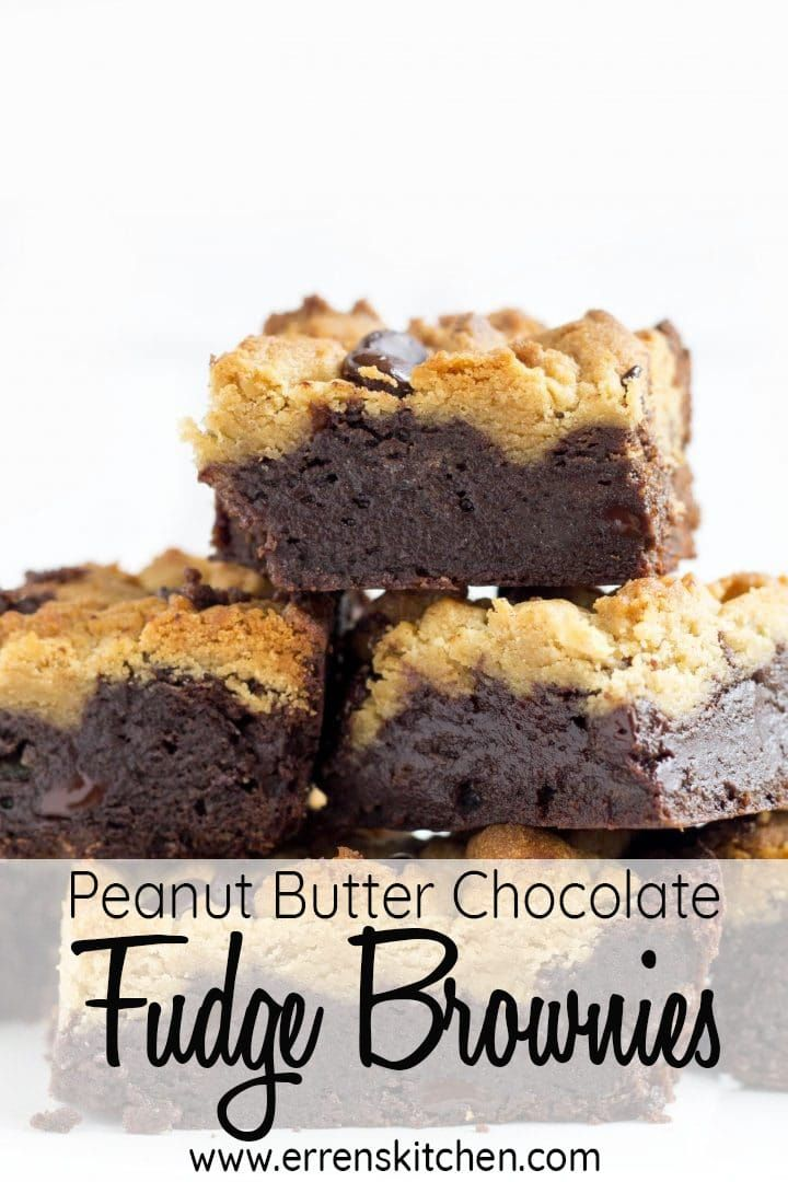 Peanut Butter Chocolate Fudge Brownies This outrageous recipe for Peanut Butter Chocolate Fudge Brownies combines gooey brownies and peanut butter cookies into one perfect dessert, why not get the kids involved with this creation