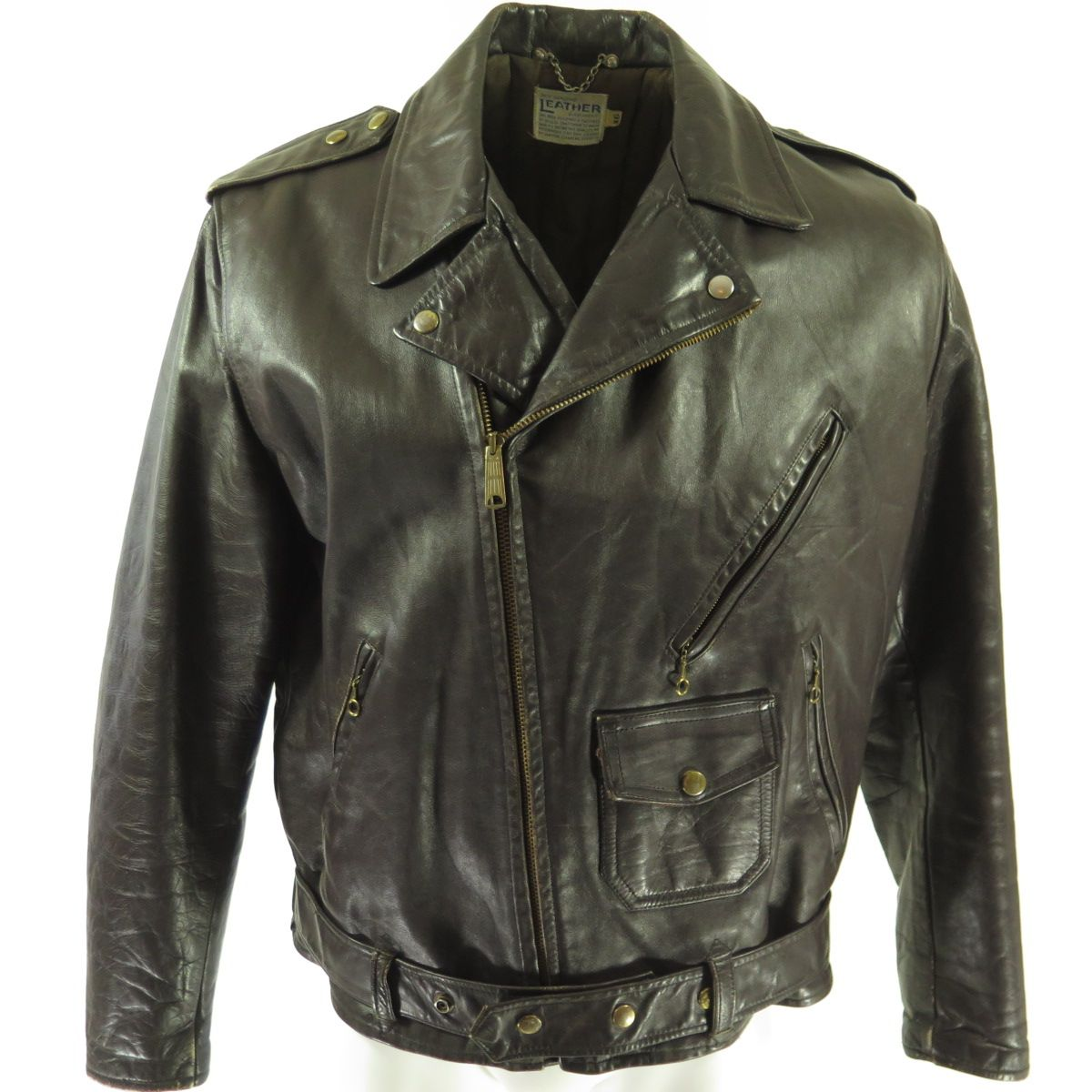 0d794f01af94e8 Details  Made in United States by Leather Garment Leather material 2 Angled  lower zip pockets