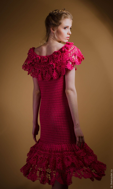 ливемастер ру вязаные платья на 3 года крючок схемы