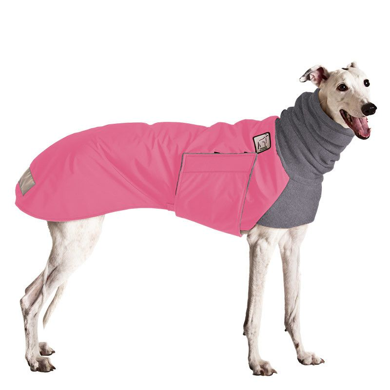 Greyhound Winter Coat (Pink with Grey Hood) | perros ROPA ...