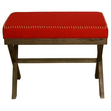 Red Cloth Stitched Bench   Threshold™