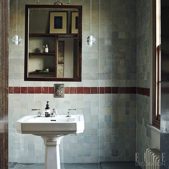 Mix Old And New To Create An Individual Aesthetic (this Bathroom Belongs To  A Fabric Designer Maker In East London). This Vintage Sink From Retrouvius  ...