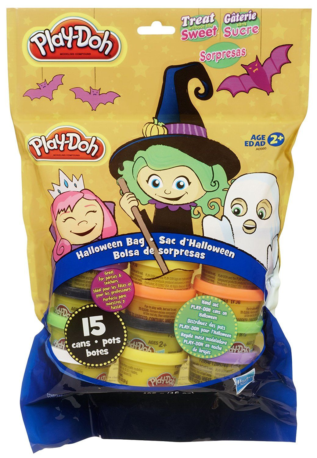Play-Doh, Hasbro Treat-Without-the-Sweet Halloween Bag 15 ...