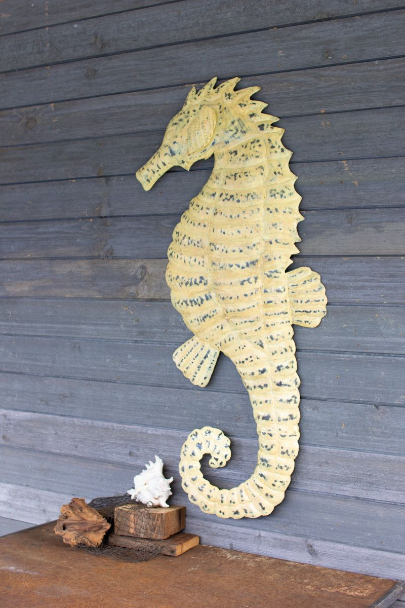 Rustic Sea Horse Wall Hanging Sculpture Perfect Decor Piece For Your Home Hammered And Painted Rustic White Rustic Wall Decor Horse Wall Hanging
