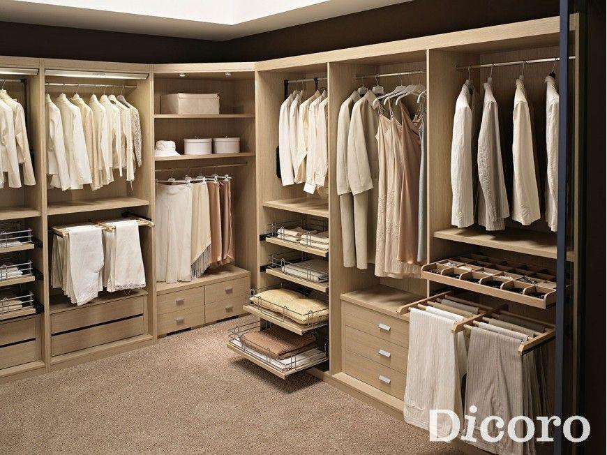Vestidor gris perla roble claro roble y estetica for Medidas closets modernos