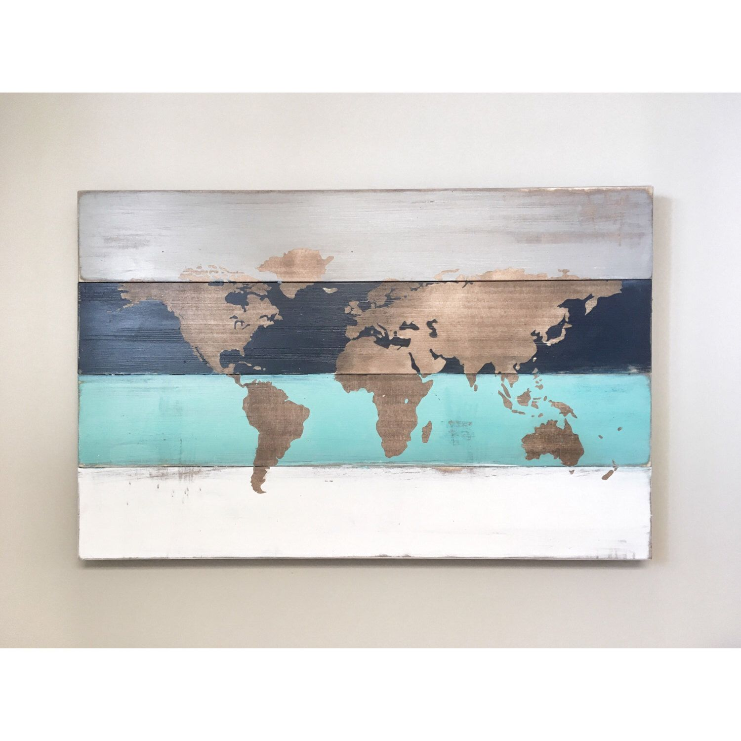 Rustic wood world map rustic decor farmhouse decor rustic nursery a personal favorite from my etsy shop httpsetsy calisting490013048rustic wood world map rustic decor gumiabroncs Images
