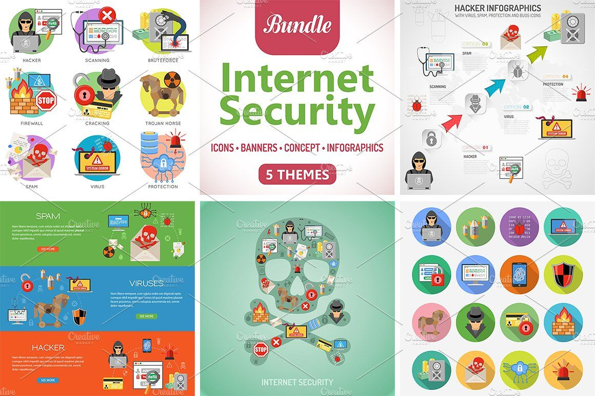 Security Themes security, Graphic