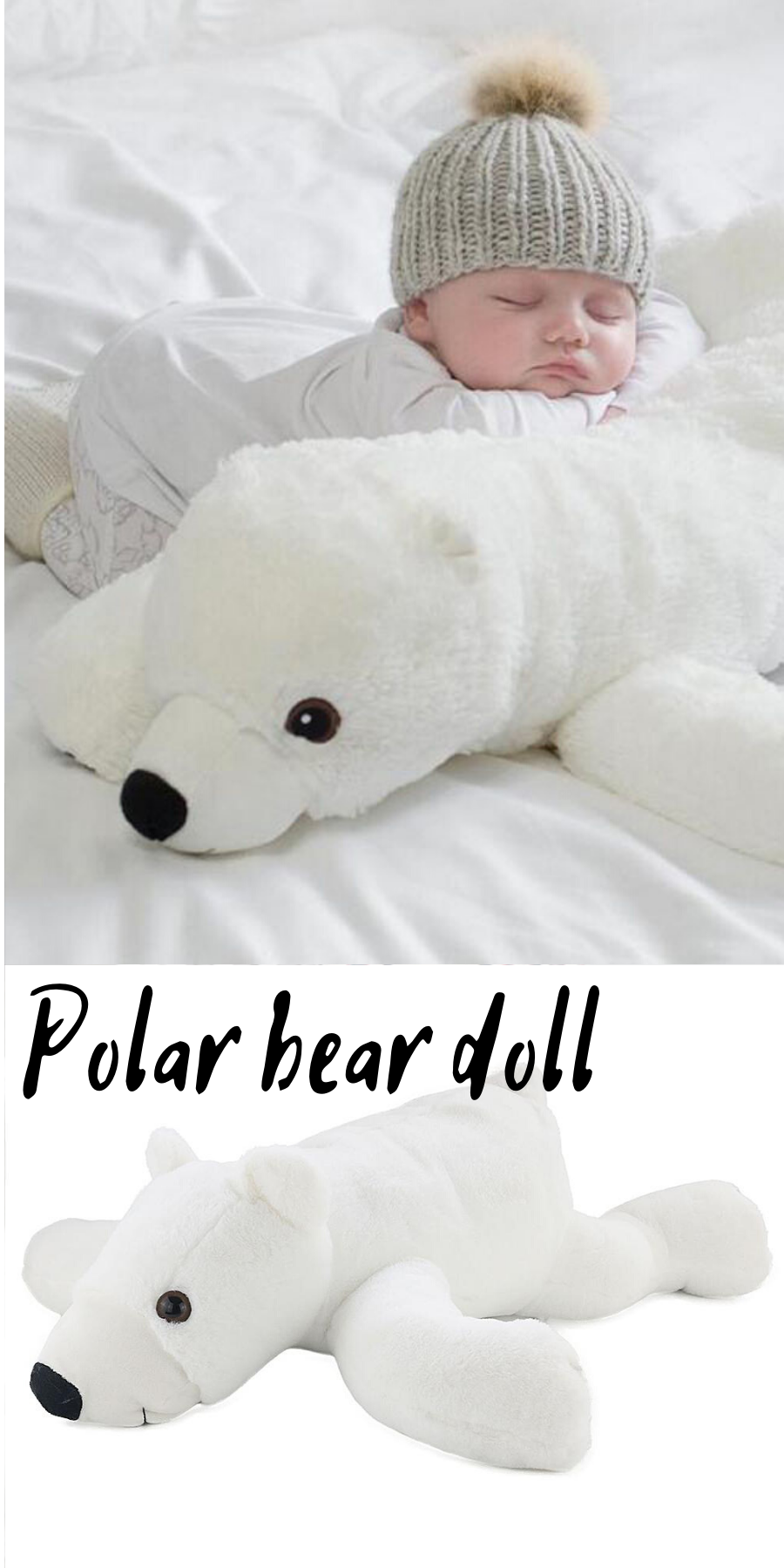 Toy pillow big polar bear #bearplushtoy