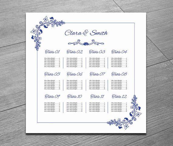 Wedding Seating Chart Template Printable Wedding Seating Poster