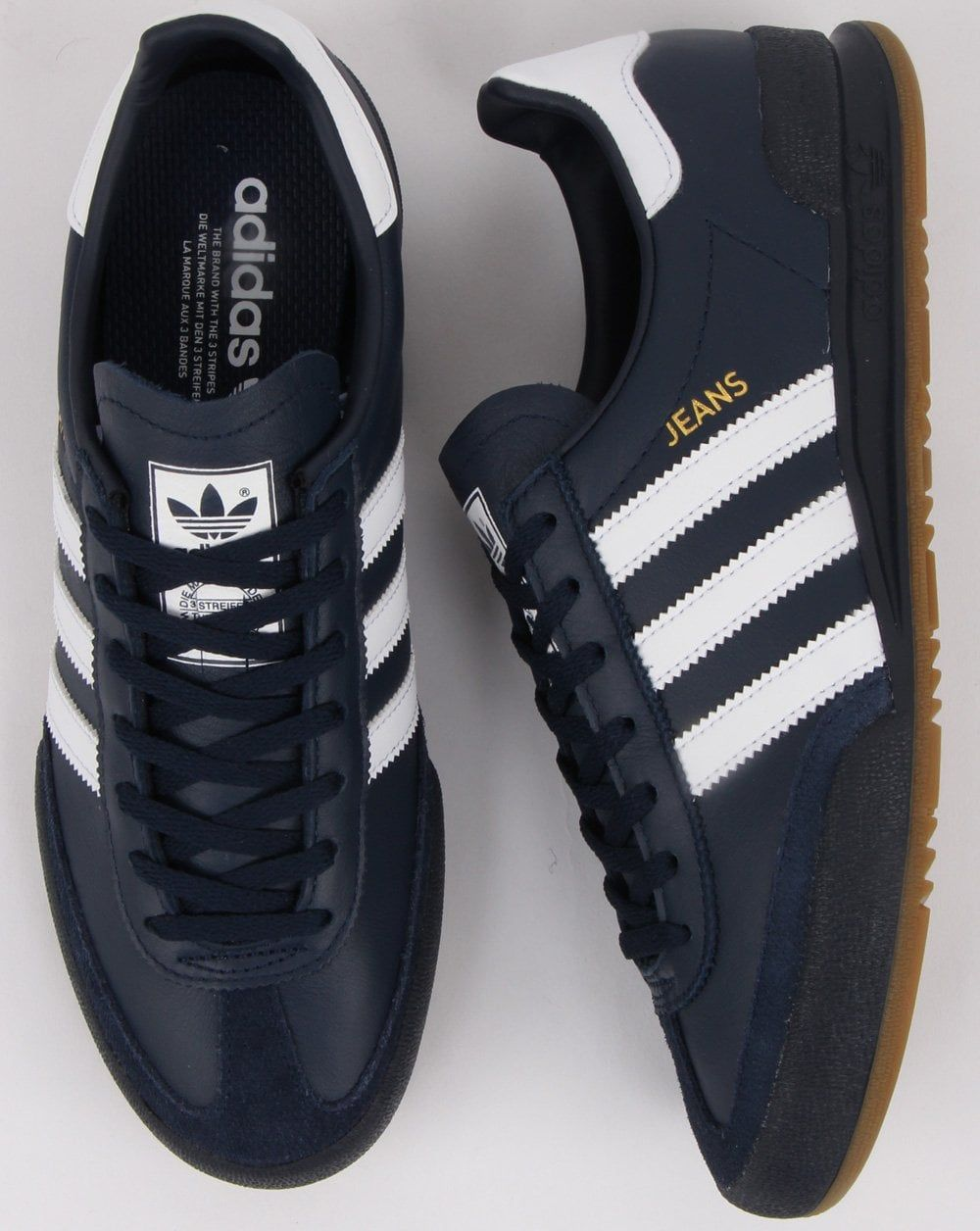 Hacer un nombre vapor calina  Adidas Jeans Trainers Navy, white, leather | 80s casual ... adidas jeans  trainers leather … | Adidas originals jeans, Adidas jeans trainers, Adidas  outfit women