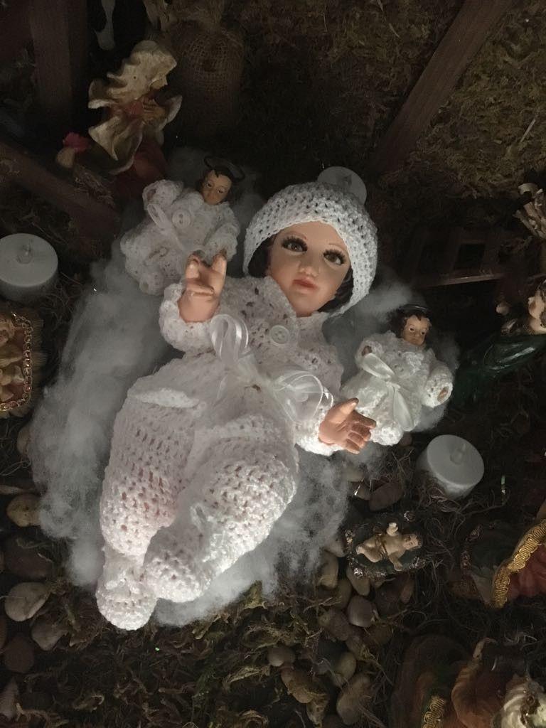Tegido Para Niño Dios Ropon De Niño Dios A Crochet