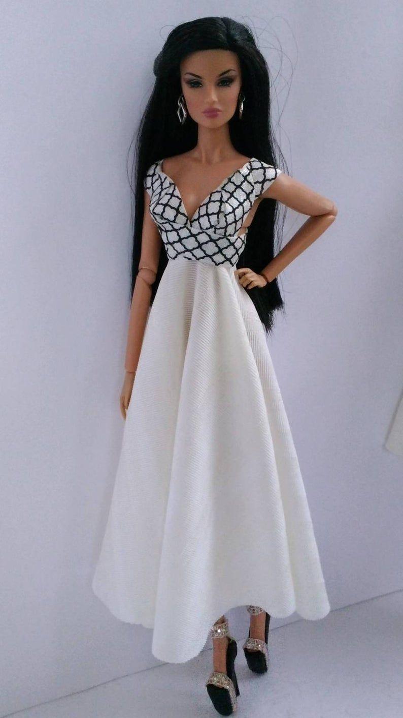 12 inch fashion doll dress fit Barbie, integrity toy's, poppy Parker, momoko, fashion royalty, silkstone, fashionistas, Fr, fr2, Nuface