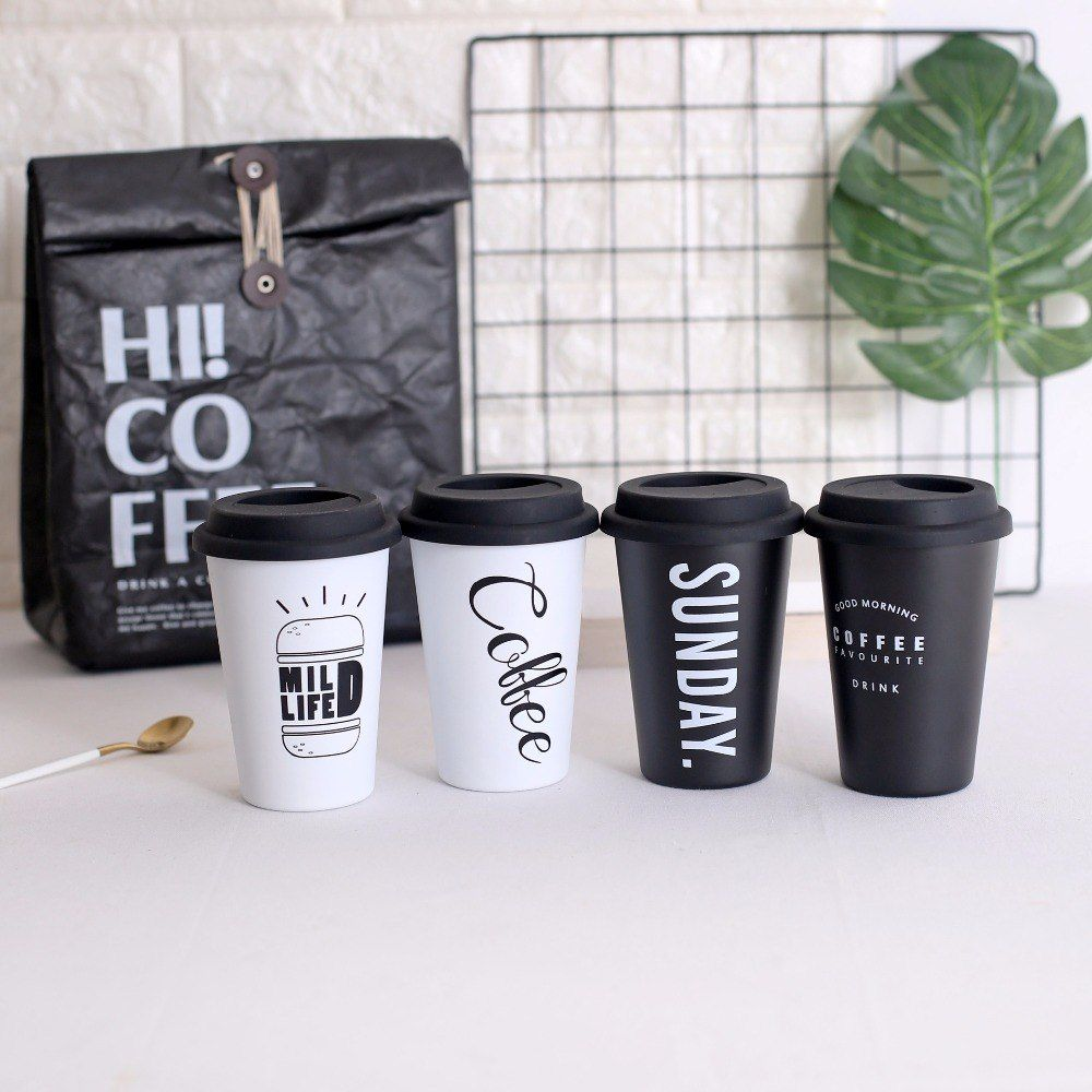 Coffee Mug with Lid Travel Milk Mug Funny в 2020 г