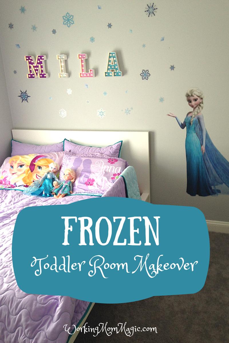 Frozen Toddler Room Makeover Frozen Room Decor Frozen Room Themed Kids Room