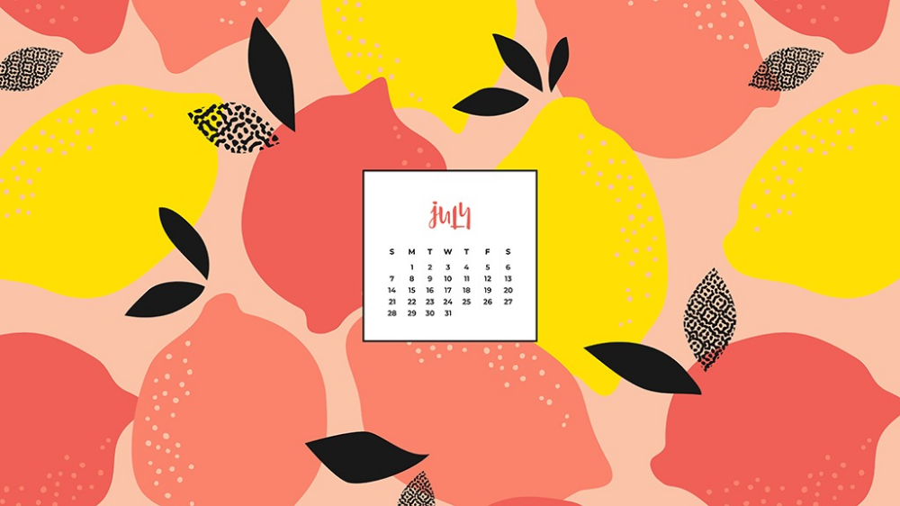 Five fun, fruity, and free July wallpaper calendars