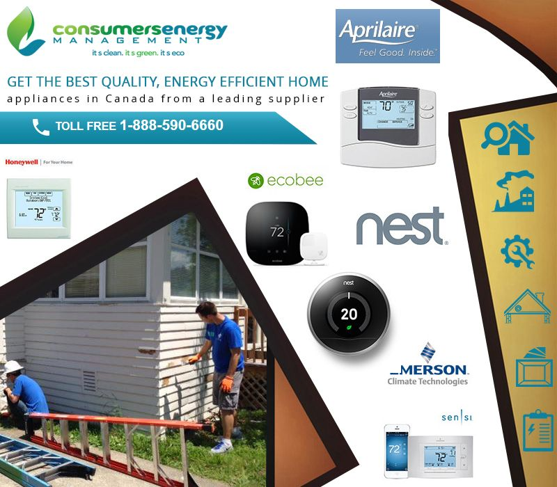 Consumers Energy Management Inc Is A Leading Canada Based Heating And Cooling Company Air Conditioner Repair Water Heater Thermostat Energy Efficient Homes