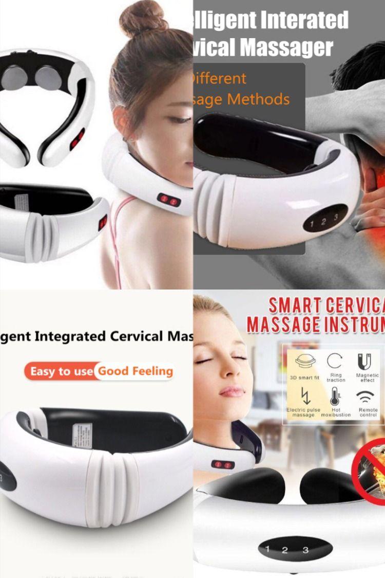 Hot electric cervical neck support massager body shoulder