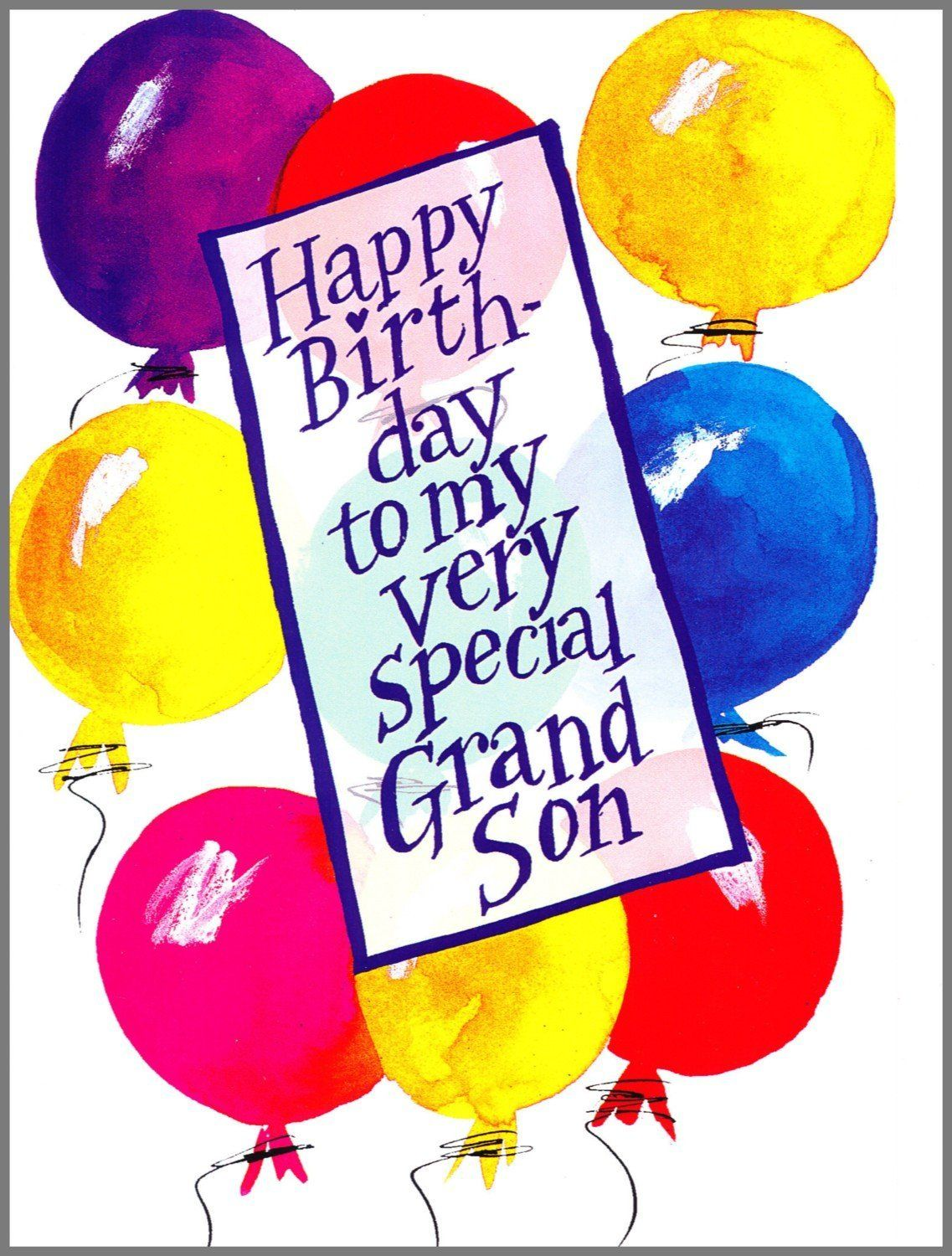 Grandson Birthday Greeting Card To My Very Special Grandson Happy