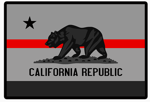 California Thin Red Line From Stevens Tactical Shop California Bear California Republic California Flag