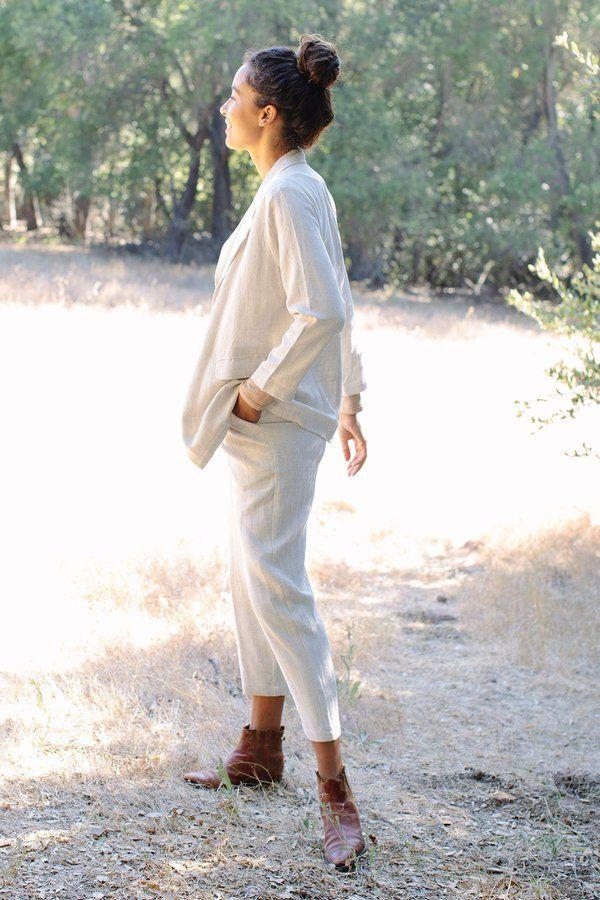 Rachel Pally Linen Reese Pant - Natural