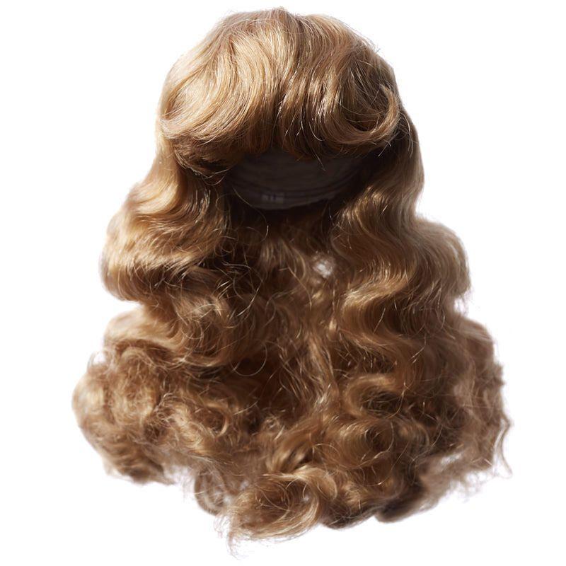 Antinas dark blonde doll wig doll hair doll making