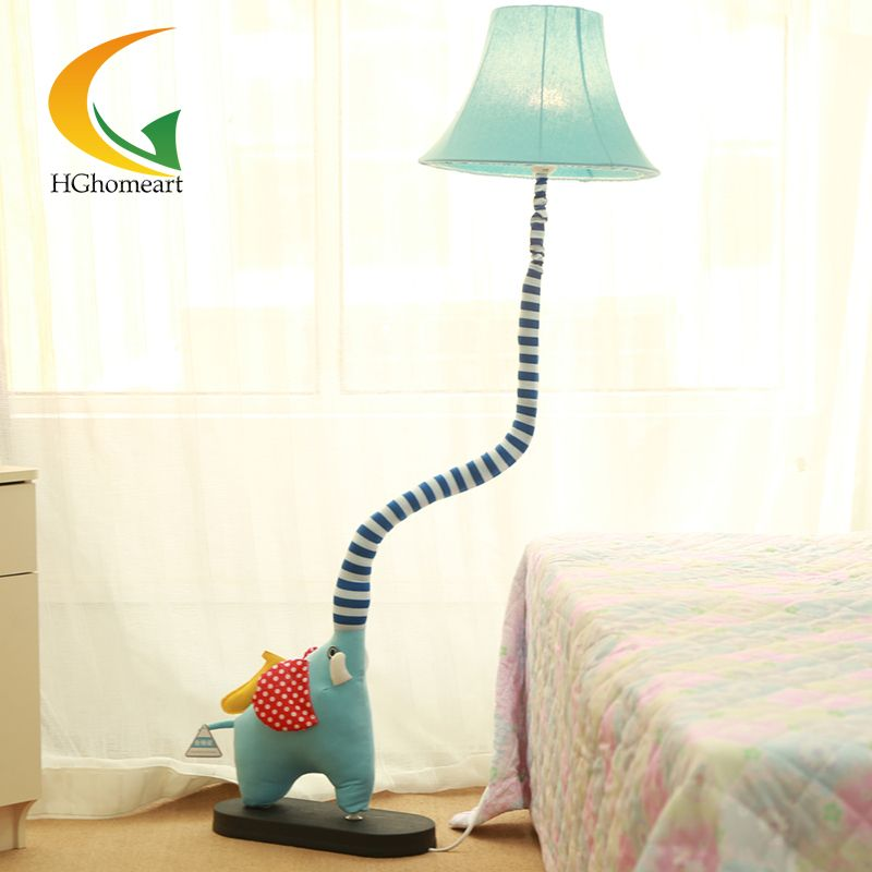 Goedkope Cartoon dieren stof vloerlamp woonkamer lamp voor ...