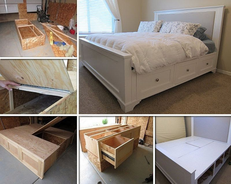 DIY king size bed | Housey stuff I want | Pinterest | Bett ...